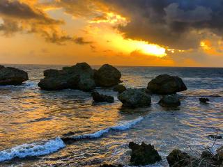 Barbados_Coast_Rocks_Sunset_16_9